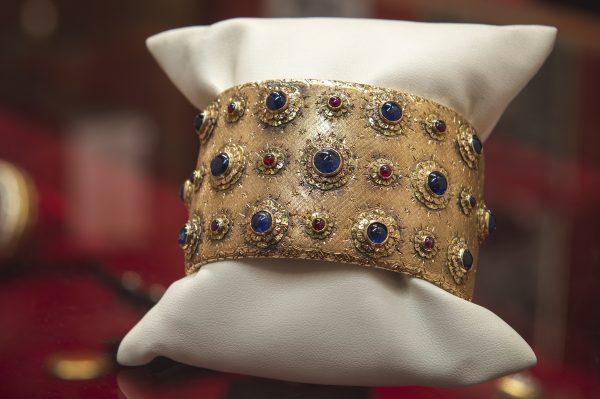 Nerdi Orafi Incisori - Bracciale in oro giallo con zaffiri e rubini