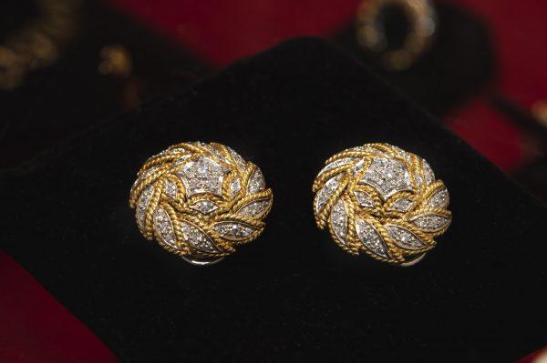 Nerdi Orafi Incisori - Orecchini in oro bianco e giallo con brillanti