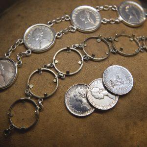 Nerdi Orafi Incisori - Bracciale 500 LIRE con monete autentiche in argento
